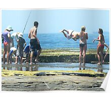 Australia Day.... down by the seaside Poster