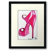 Red Stiletto Framed Print