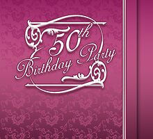 50th Birthday Party Invitation Modern  by Moonlake