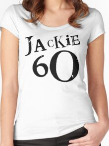 Jackie 60 Classic Black Logo on White  Women's Fitted Scoop T-Shirt
