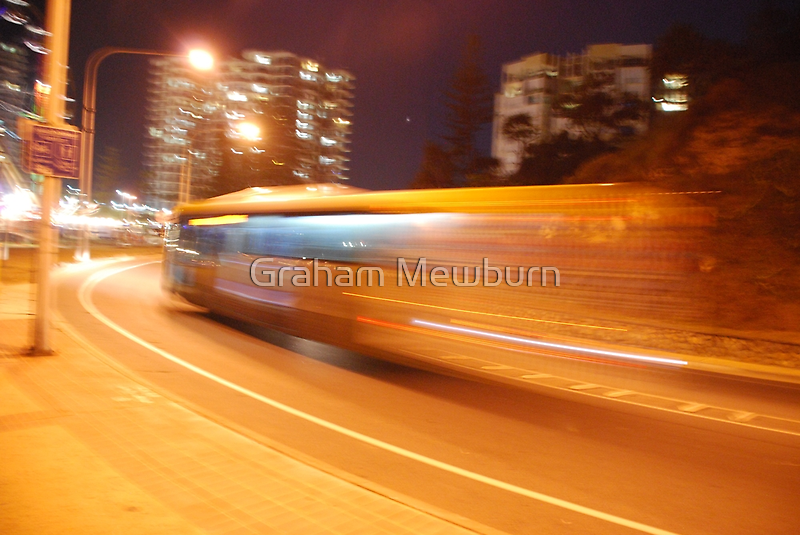 Night bus back to the future by Graham Mewburn