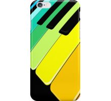 Piano Keyboard Rainbow Colors  iPhone Case/Skin