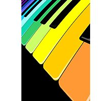Piano Keyboard Rainbow Colors  Photographic Print