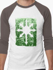 Khaos Green Men's Baseball ¾ T-Shirt