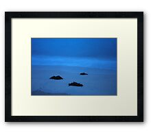 Mysterious Blue Framed Print