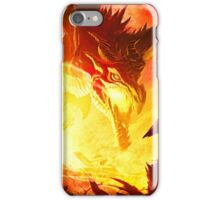 Warrior Facing Dragon iPhone Case/Skin