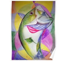Big Mouth Bass Poster