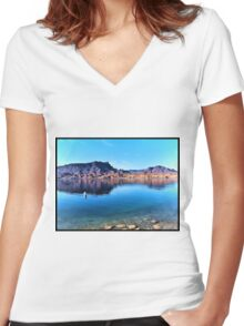 Colorado River Morning Women's Fitted V-Neck T-Shirt