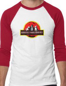 jurassic parks and rec Men's Baseball ¾ T-Shirt