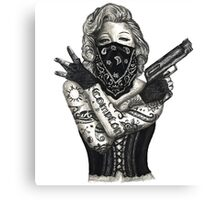 Marilyn Monroe 'Gangstified' Canvas Print