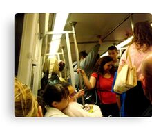 Riding the Metro Canvas Print