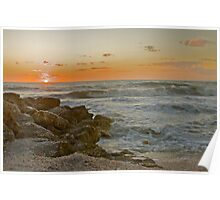 Sand,Shells,Surf and Sunset Poster