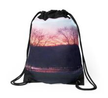 Sunset Through The Trees Drawstring Bag