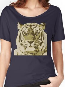Tiger head in three colors Women's Relaxed Fit T-Shirt