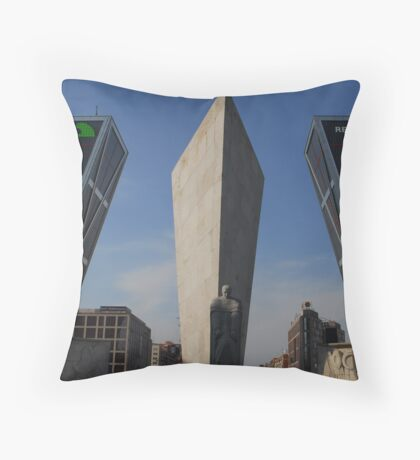 Kio's Towers, Plaza de Castilla. Madrid  Throw Pillow