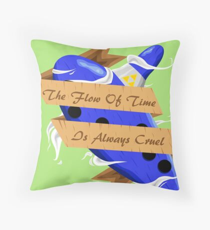 The Legend of Zelda (The Flow of Time is Always Cruel) Throw Pillow