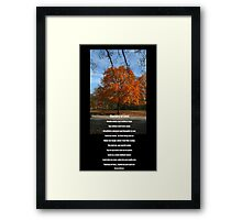 Mystery of Fall and Love Framed Print