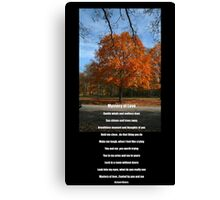 Mystery of Fall and Love Canvas Print