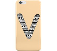 'V' Patterned Monogram iPhone Case/Skin