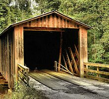 Elder's Mill Covered Bridge by Janie Oliver