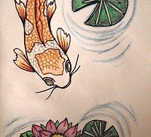 """Koi and Lillies"" by Katriya Kramme"