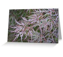 Purple Leafy Dreams Greeting Card