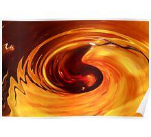 Orange Swirl Poster