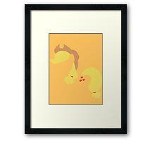 Applejack silhouette  Framed Print