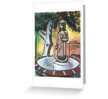 Modenian Fountain Greeting Card