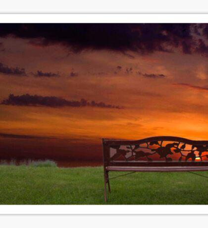 Sunrise on the Bay of Fundy, Nova Scotia Sticker