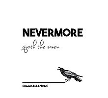 Edgar Allan Poe - Nevermore quote by NordicStudio