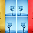 Primary Colors Wine Glass Collage by Melody Ricketts