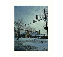 Winter Time Scene Art Print