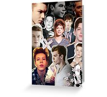 cameron monaghan montage Greeting Card