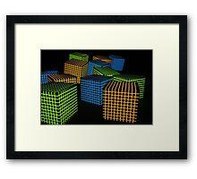 Cube avalanche Framed Print