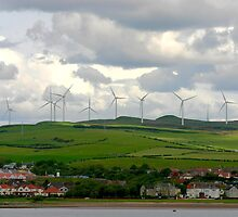 Windmills on The Isle of Arran, Scotland by April-in-Texas
