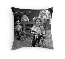 Roping Family Throw Pillow