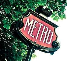 Paris Old Metro Sign by ROGUEstudio