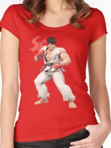 Ryu Punches In Women's Fitted Scoop T-Shirt