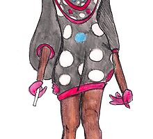 puffy polka dot dress with helmut by CTDesigns