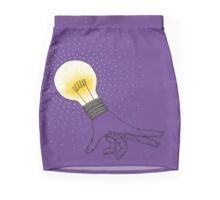 Runaway Idea lightbulb hand Mini Skirt