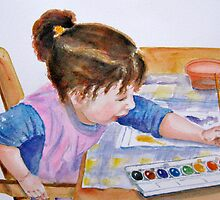Budding Artist by Marsha Elliott