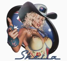 Sexy Australian Girl - Sheila Artwork Shirt Graphic T-Shirt