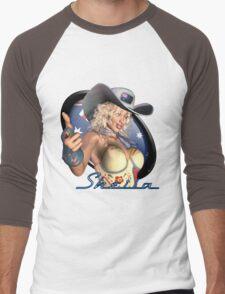 Sexy Australian Girl - Sheila Artwork Shirt Graphic Men's Baseball ¾ T-Shirt