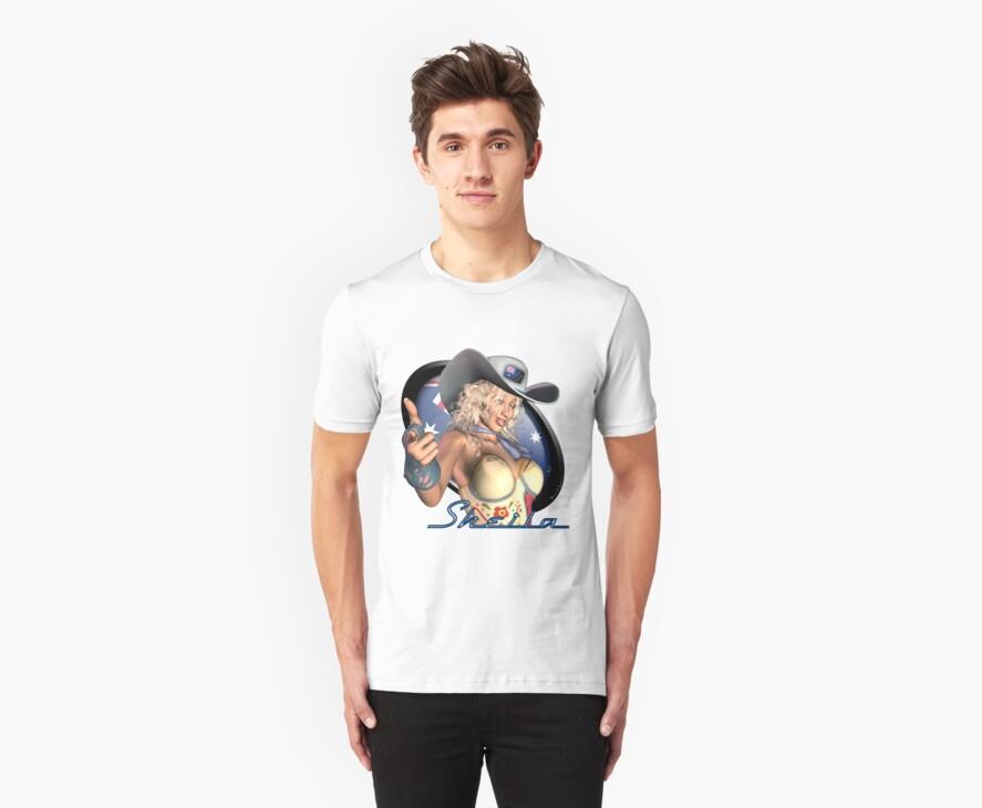 Sexy Australian Girl - Sheila Artwork Shirt Graphic by factor
