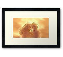 love like the morning sun Framed Print