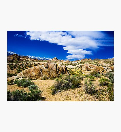 Sierra Wave at Alabama Hills Photographic Print