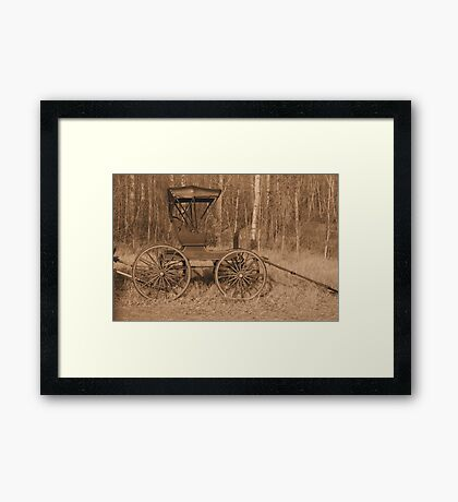 """""""A Classy Ride"""" - Classic Passenger Buggy Framed Print"""