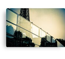 Eiffel through glass Canvas Print