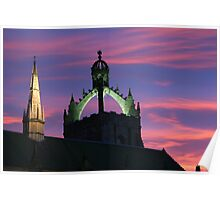 Sunset above King's College, Old Aberdeen Poster